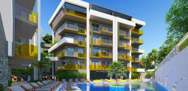 New 1+1's in Cleopatra beach – Alanya – 49-58m² – 89 000€
